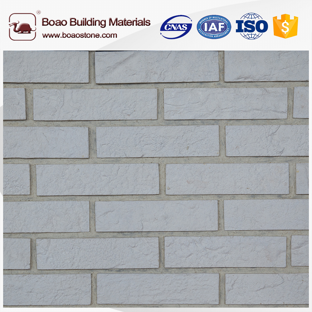 Imitation white thin brick stone veneer for 11.11 festival global sales