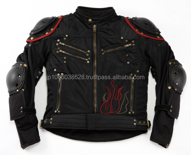 Japan fierce design stylish motorcycle cheap winter jackets with removable protector