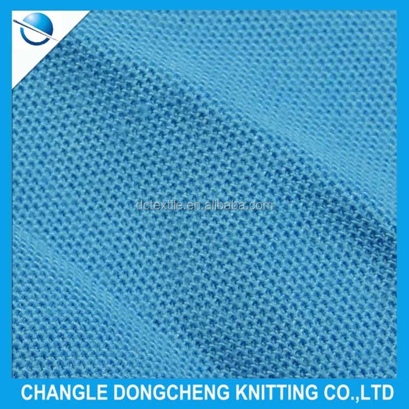 cotton polyester pique knit fabric for clothing
