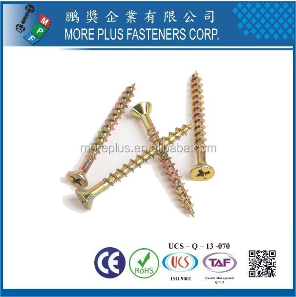 Made In Taiwan Pozi Double Flat Head Chipboard Screws Machine Screw Chipboard Chipboard Screw Plug Anchor