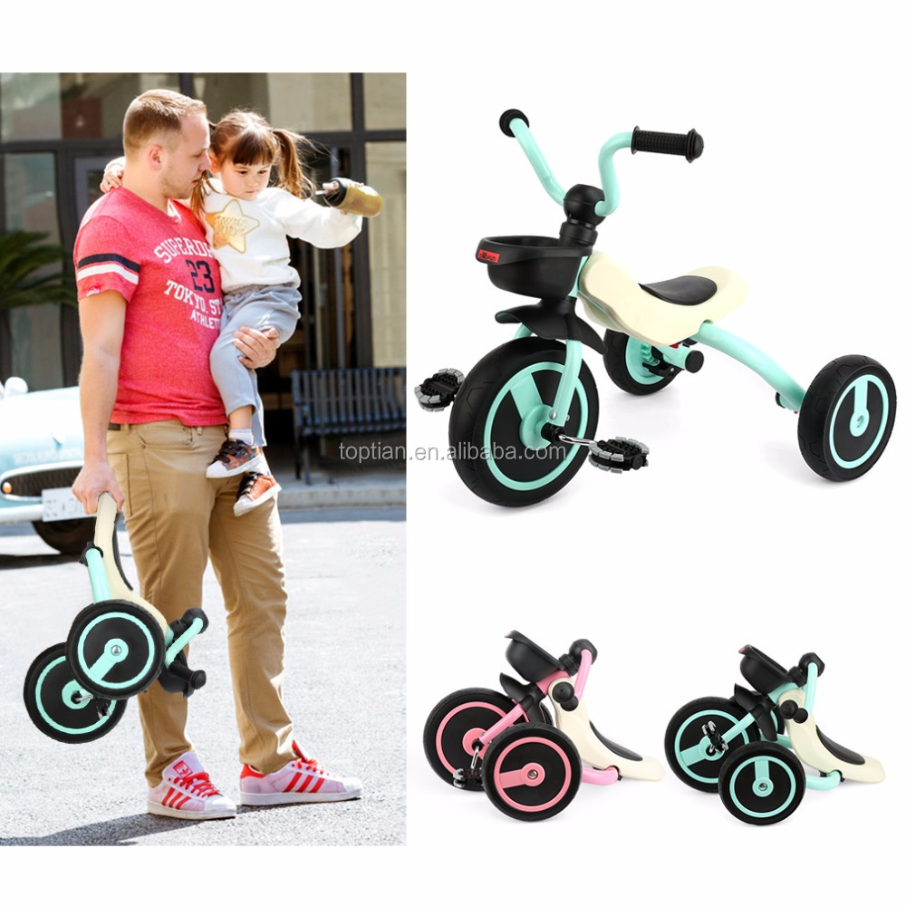 Wholesale Portable Foldable 3 Wheel Baby Tricycle Bike Kids Child Tricycle Bicycles Children Tricycle For 2 - 5 Years Old