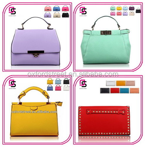 2016 New lastest designer cheap pu handbag classic fashion design lady pu handbag made in china