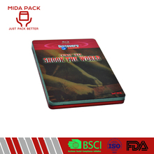 Metal individual packaging metal dvd tin box for sale