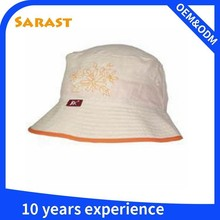Custom fashion high quality pink color bucket hat of 100% cotton