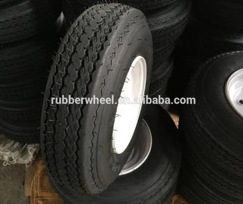 Non-tube type pneumatic rubber tyre trailer wheel