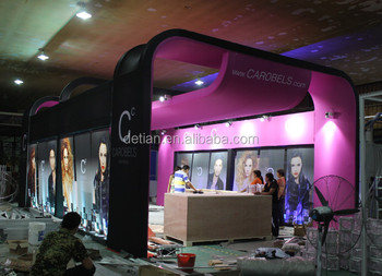 Shanghai Detian fabric display stand exhibition for trade show