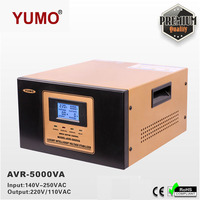 YUMO input 140V 250VAC output 220V 110V Digital LCD 3 plug Automatic voltage regulator 3 phase 380v stabilizer