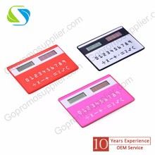 promotion advertising logo print custom made plastic cheap card calculator