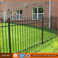 Shengwei hot galvanized square tube iron fence