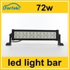 cree led light bar 2 row 72w work light waterproof