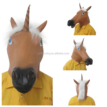 High Quality Scary Halloween Masquerade Latex Party Horse Mask