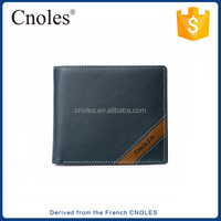 Hot selling Casual blue leather wallet for men