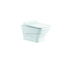 Wonderful Rimless Wall Hung Toilets for Commercial or Home Bathroom Use