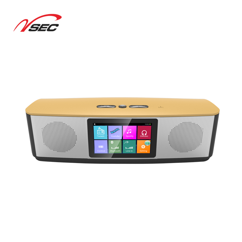 NSECO Oem Music Android Wifi Wireless Cloud Fox Smart bt Speaker App Control Spotify Airplay Karaoke Speaker For Phone