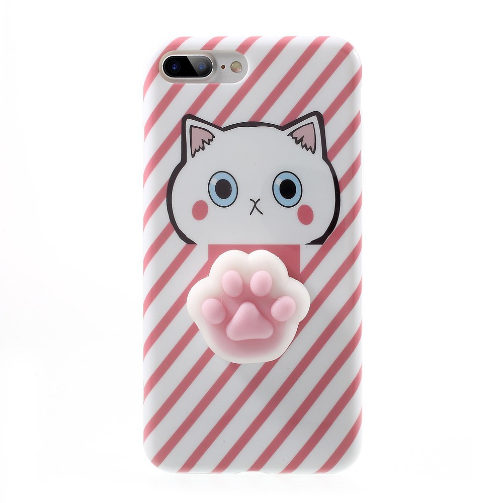 3D Cute kneading Cartoon Lazy Cat Silicone Phone Case For iPhone 7 7 Plus