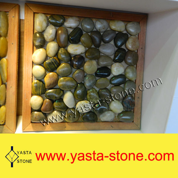 Wholesale Interlocking Brown Natural Pebble Stone Paver