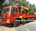 lowest price 8 wheel dongfeng diesel hydraulic liftable boom truck crane 7 ton