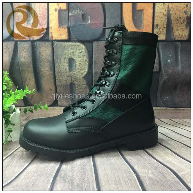 Yiwu genuine leather waterproof steel toe caps military army boots