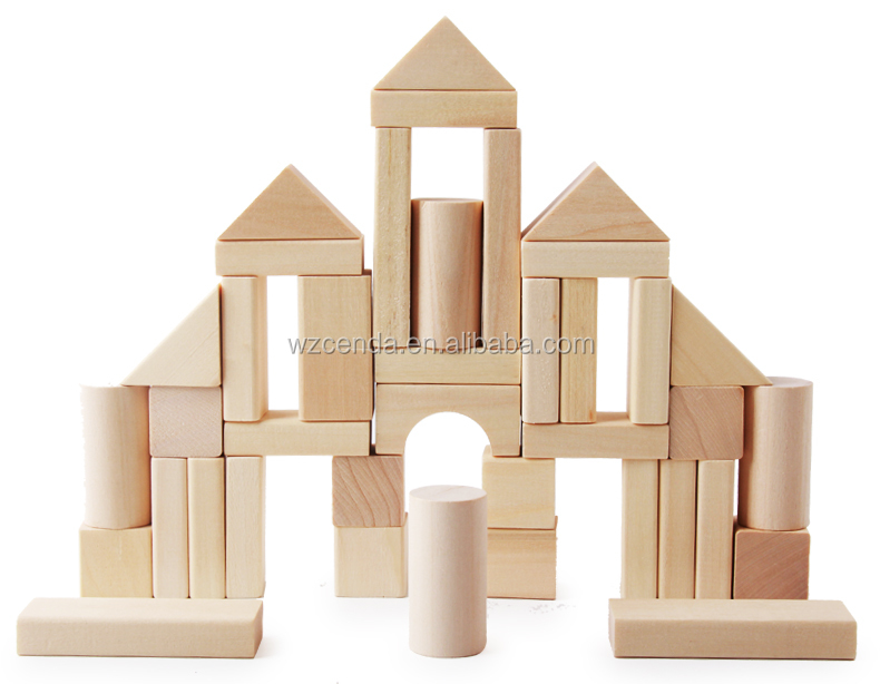 Hot selling educational wooden toys 40pcs wooden building blocks