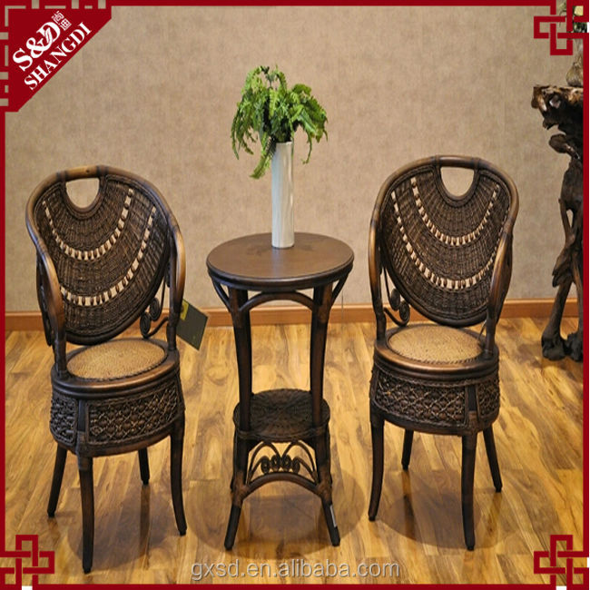 S&D pure manual wooden rattan novelty garden furniture