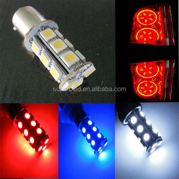 flash mode 18smd car brake and turn signal light s25 1156 1157