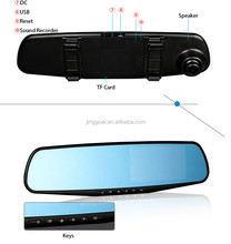 HD Video Auto Parking Monitor Glass Lens Car Rear View Camera With 4.3 inch Car Rearview Mirror Monitor AK47