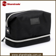 2015 Durable Black Men Cosmetic Bags, Men's Travel Cosmetic Bag , Trolley Makeup Bag For Gentleman