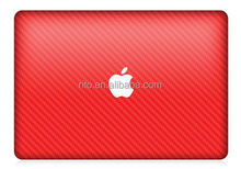 Carbon Fiber Decal Stickers for Mac Book, Red Carbon Texture Pattern Skin for MacBook