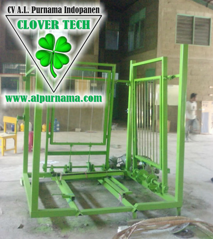 Foamed concrete multi band saw cutting machine