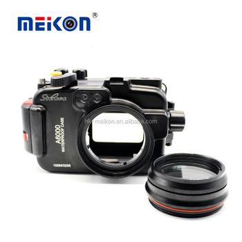Meikon wholesale waterproof camera case aluminium housing for Sony A6000 up to 100M/325ft underwater housing