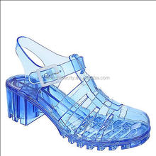 High Heel Jelly Transparent Sandal