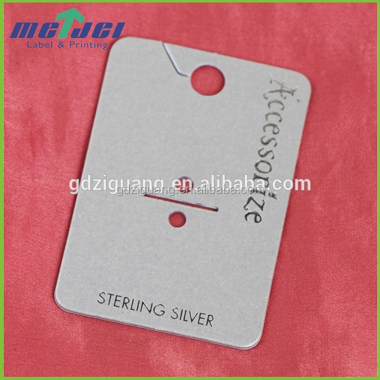 Jewelry hole punch hang tag