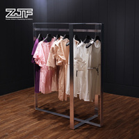ZJF Metal fashion hanging clothes display rack