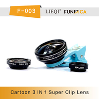 Newest Christmas gift item 2014 Universal Mobile phone 0.4x super wide+macro+fish eye 3 in 1 Clip-on lens for ip/pad/tablet PC