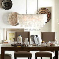 2015 zhongshan new fashion led chandelier made of shells