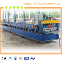 2016 canton fair hebei xinnuo 780 Metal roof Muskoka step roof tile roll forming machine