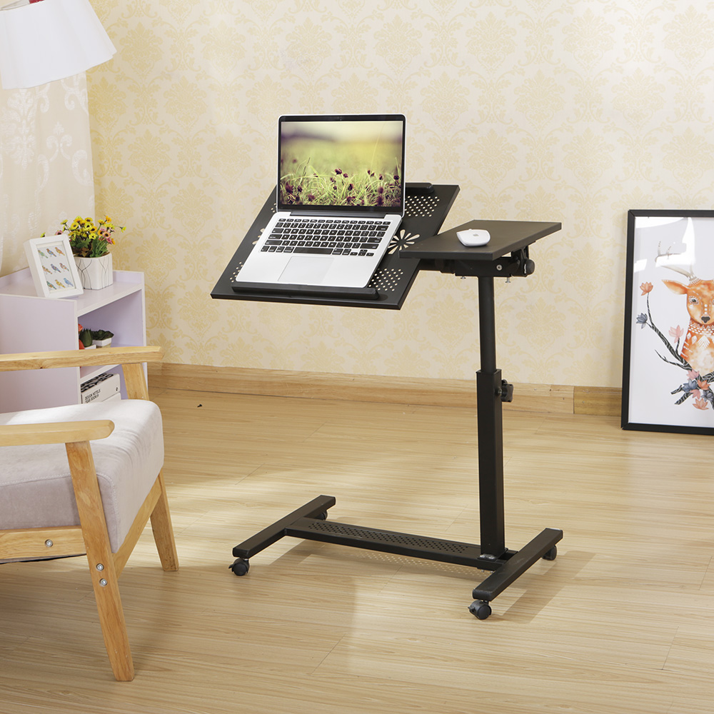 Sit and standing mobile laptop workstation/workstation laptop