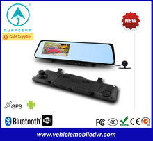 High quality 4.3 inch dual lens car camera with gps