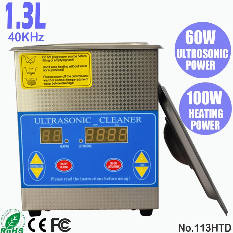 113HTD 1.3L Sonic Cleaning Bath Small Digital Ultrasonic Cleaner