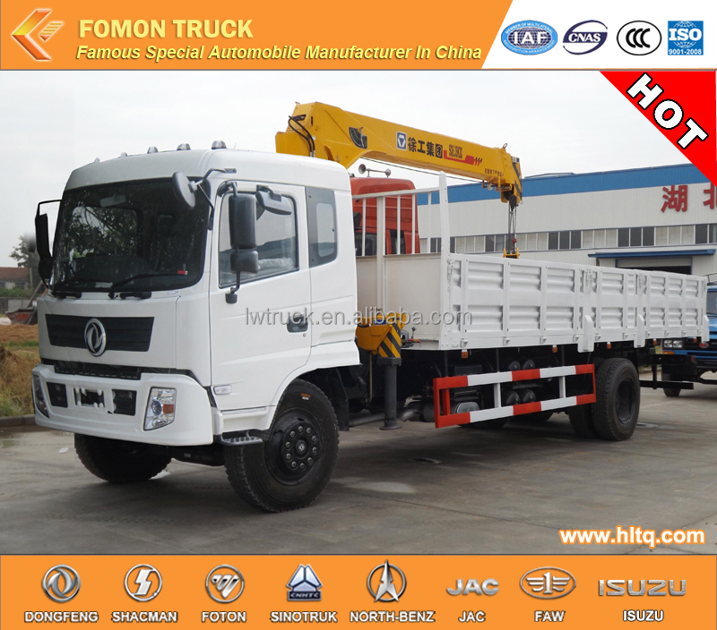 DONGFENG new model 4x2 5tons truck mounted crane lorry truck mounted crane
