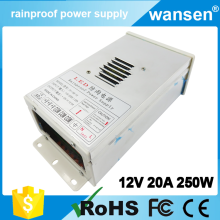 12v 250w rainproof power supply 12v 20a led driver FY-250-12