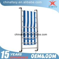 wall mounted hotel style bathroom chrome plated stainless steel double heated towel rail