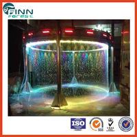 Cheap Glass Stage Graphical Colorful Stainless Steel Water Curtain Fountain
