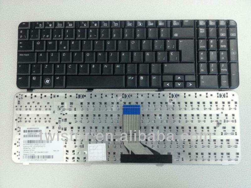 Spanish layout for HP COMPAQ CQ61 G61 laptop keyboard