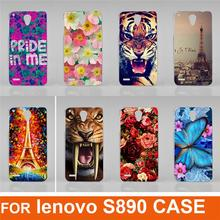 New Fashion 14 patterns Colorful flowers animals eiffel tower Cool Cell Mobile Phone Case For Lenovo S890 back cover