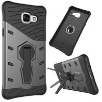Case for Samsung Galaxy A5 2016 Version A510 A510F 2 in 1 Hard PC Silicone Hybrid Kickstand Gasbag Shockproof Slim Armor Case
