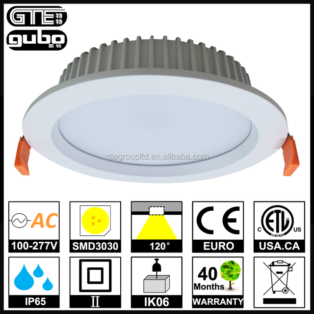 IP65 Waterproof DALI Dimming LED Downlight 40W 8inches