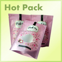 foil ziploc dog treat packaging bag / high quality matt printed stand up pouch