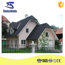 Stone coatd metal roof tiles terracotta roofing / colorful sand steel roofing tile / thermal insulation types of roofing tiles