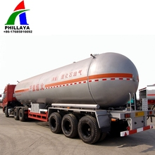 2017 China mobile lpg storage tank semi trailer/gas filling machine station